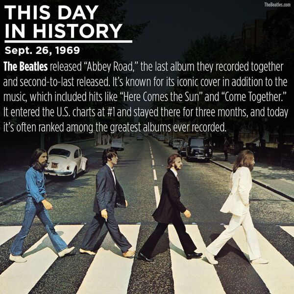ThisDayInHistory: The Beatles released AbbeyRoad 47 years ago today.