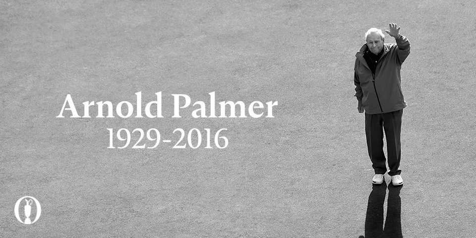 Thank you, Arnie. #TheKing