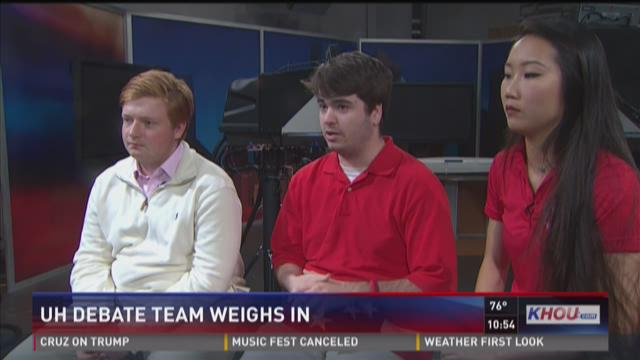 UH debate team weighs in on first presidential debate