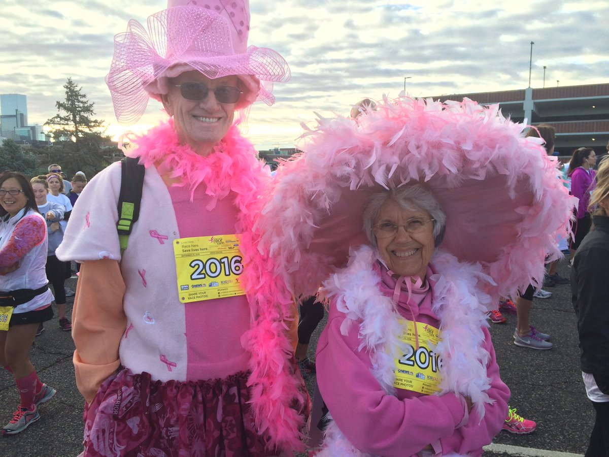 RaceForTheCure 15K people in pink raised half million dollars to fight breast cancer. 9newsmornings 9news