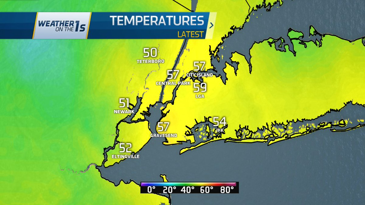 Readings at 6 AM. For the 3rd day in a row, temps dropped to the 50s overnight.