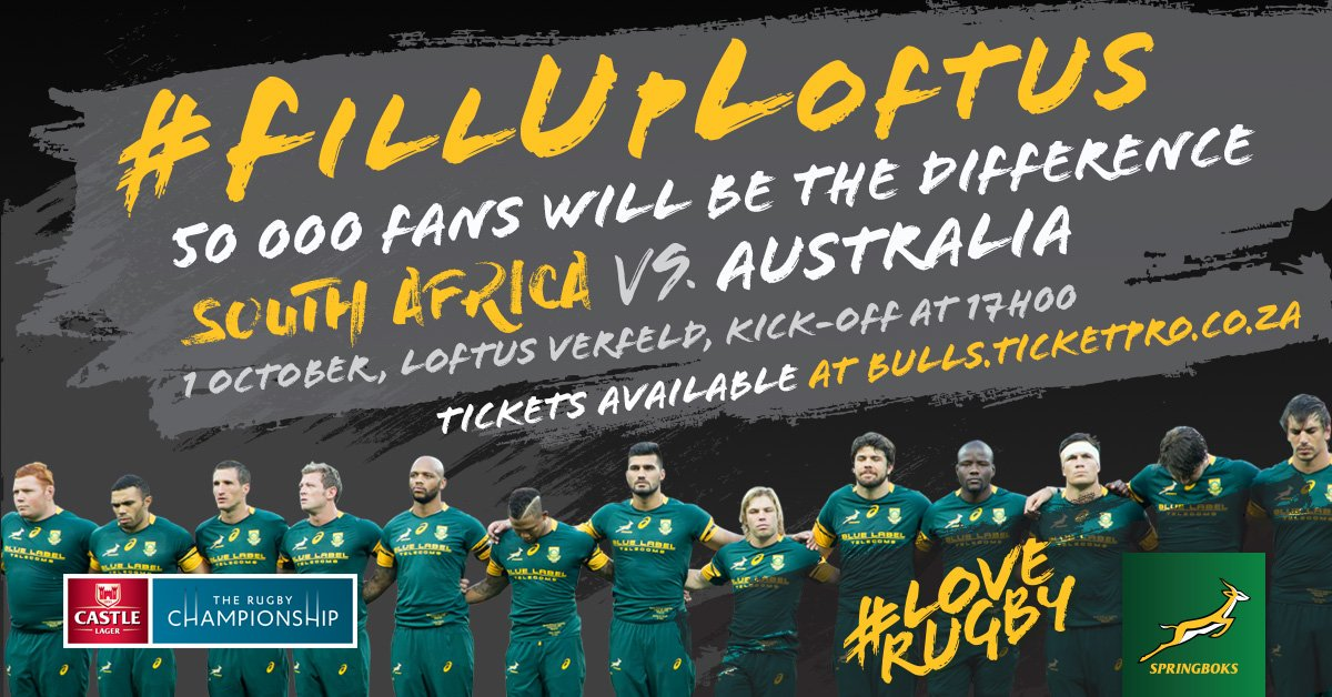 #FillUpLoftus Get your tickets now https://t.co/7NhaUvf2iQ  #LoveRugby  Retweet & go into the draw to win 6 tickets https://t.co/q7JGUHN1LM