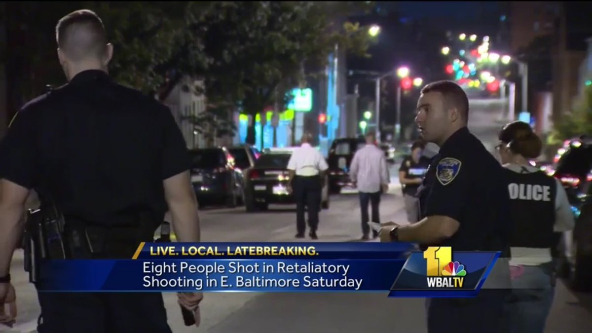 In this case police say three gunmen armed with a shotgun & two handguns opened fire on a group of people. WBAL
