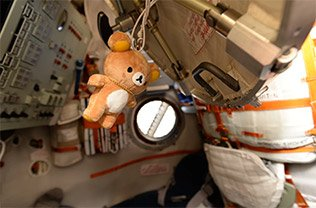 Zero gravity indicator inside Soyuz #photooftheday https://t.co/HImzdzaZIX