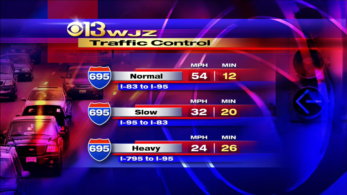 Here is a look at your average beltway speeds at this hour. @cbsbaltimore
