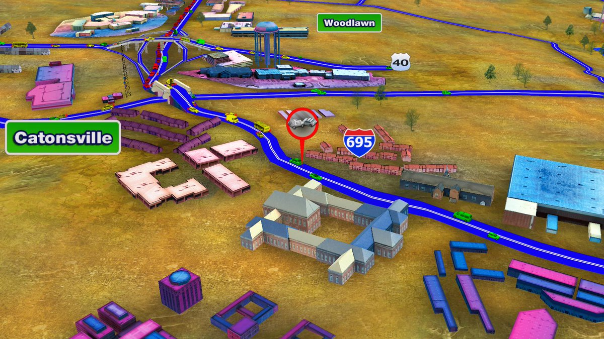 for the latest wreck on the westside OL of the beltway at Frederick Rd. @cbsbaltimore
