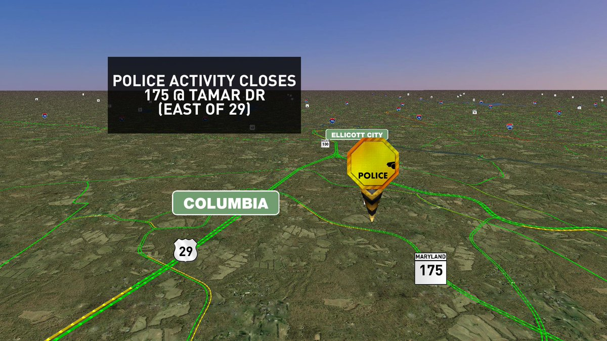 Police Activity closes 175 @ Tamar Dr (east of 29) MDtraffic