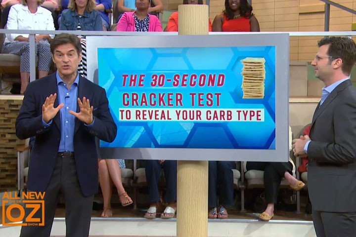 Today @DrOz tests the 30 second cracker test to tell if you are carb intolerant at 11am on WISN12