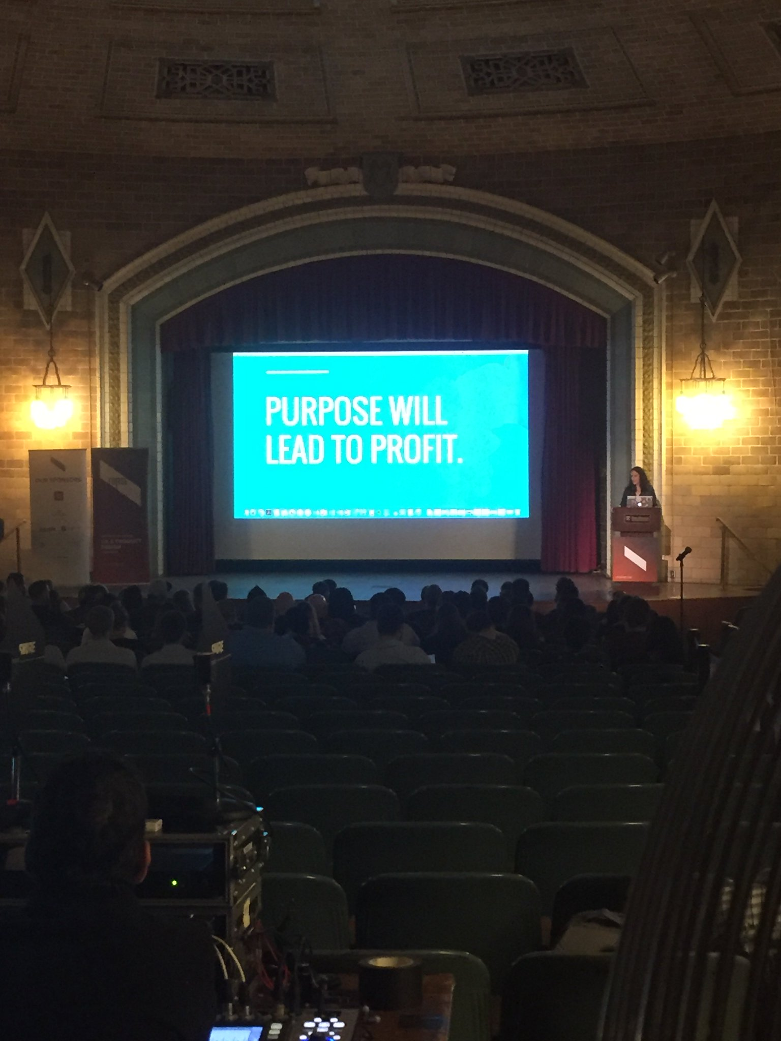 Purpose will lead to profit. #forgeconf  keynote from @AmyCueva https://t.co/p1yabWGLBU