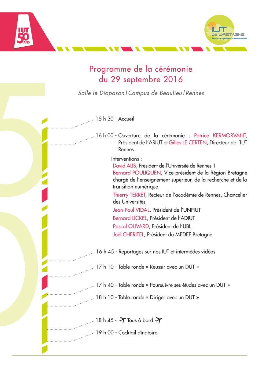 Rennes eval -  50ansiutbretagne Embarquement Jourj 3 Rennes Demandez Le Programme Iutrennes Lesiut Iutbretagne Iut Http Urlz Fr 410e Pic Twitter Com Snutloe8vp