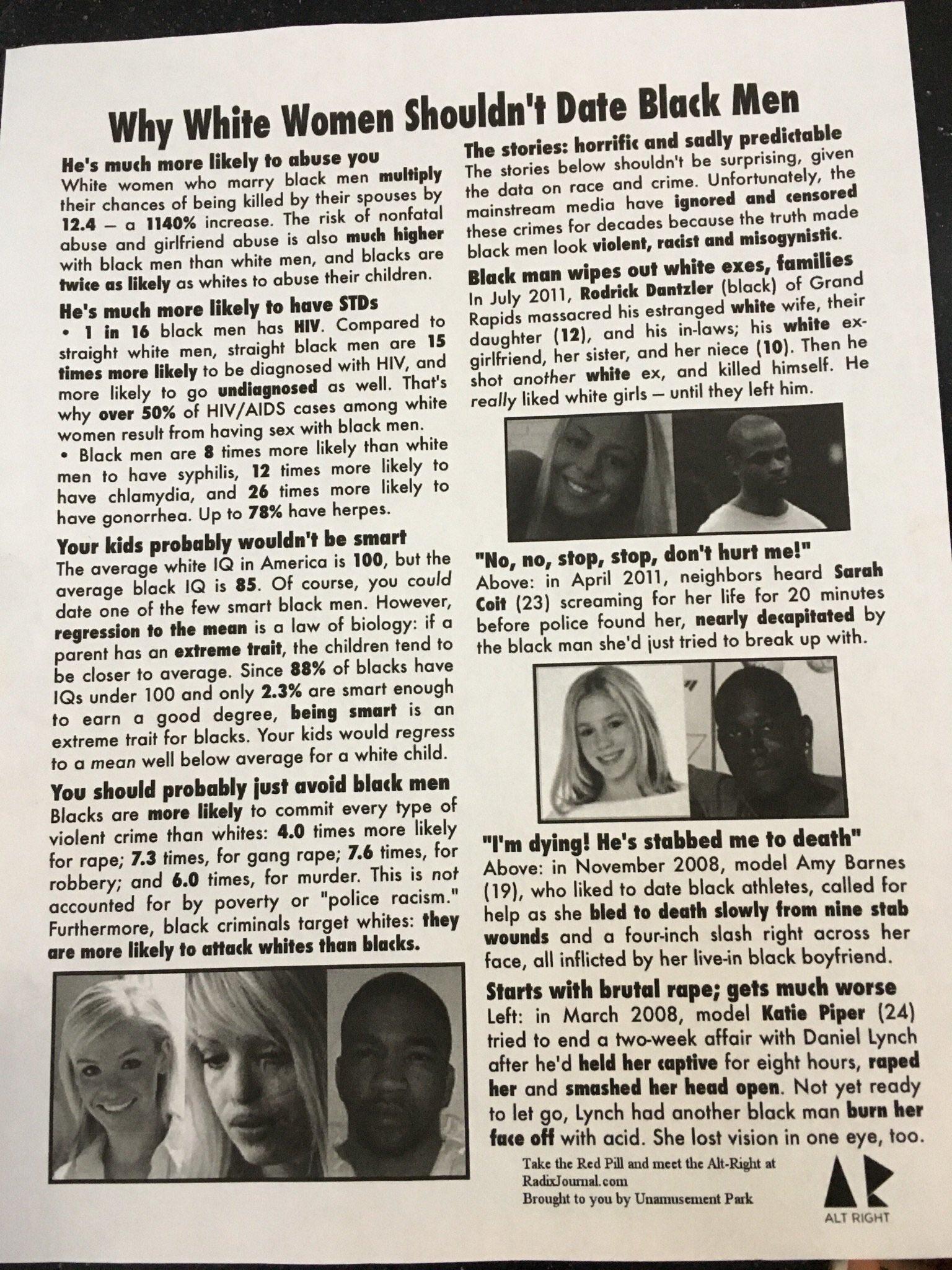 Black girl dating white guy stories