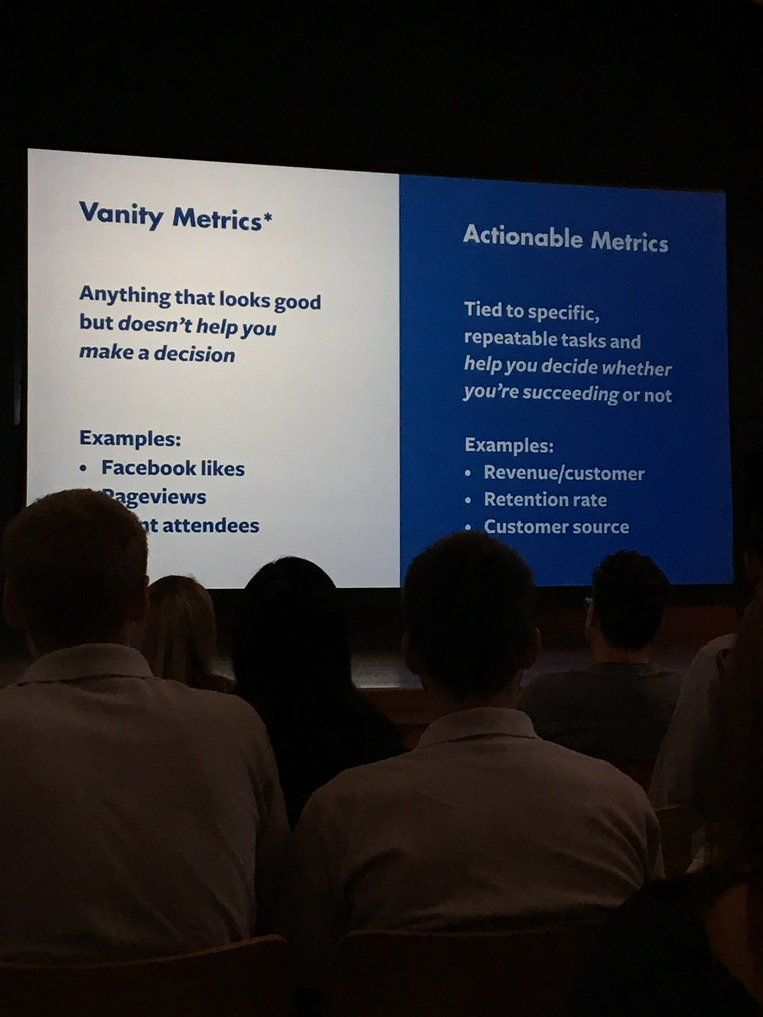 A metric could be vanity or actionable - any metric could be either depending on context #forgeconf https://t.co/9ou9jCsoTA