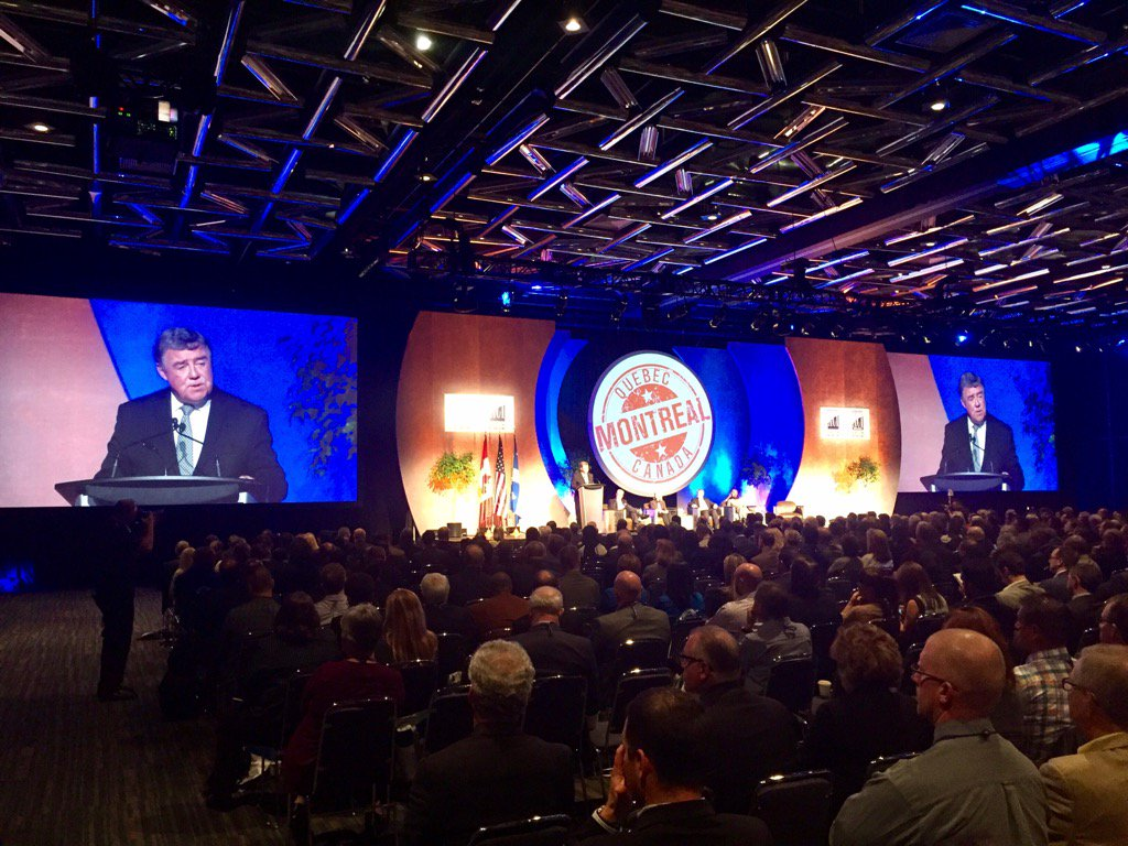 .@aeroportsMTL President and CEO Jim Cherry welcomes more than 2,100 #airports16 attendees to Montréal https://t.co/BxBcrwruiI