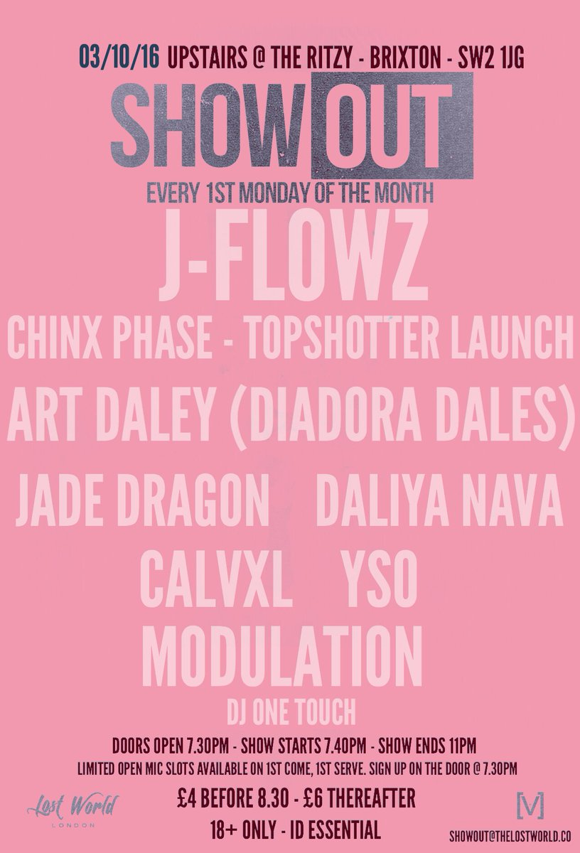 #ShowOUT is 7 days away. Free up that schedule & be there! https://t.co/vNUp5AXGhD