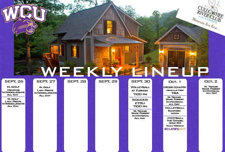 Catamount Weekly Line-up  (10-2-16)