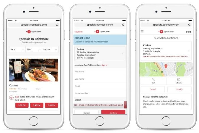 @OpenTable users in Baltimore now have access to exclusive specials at some restaurants