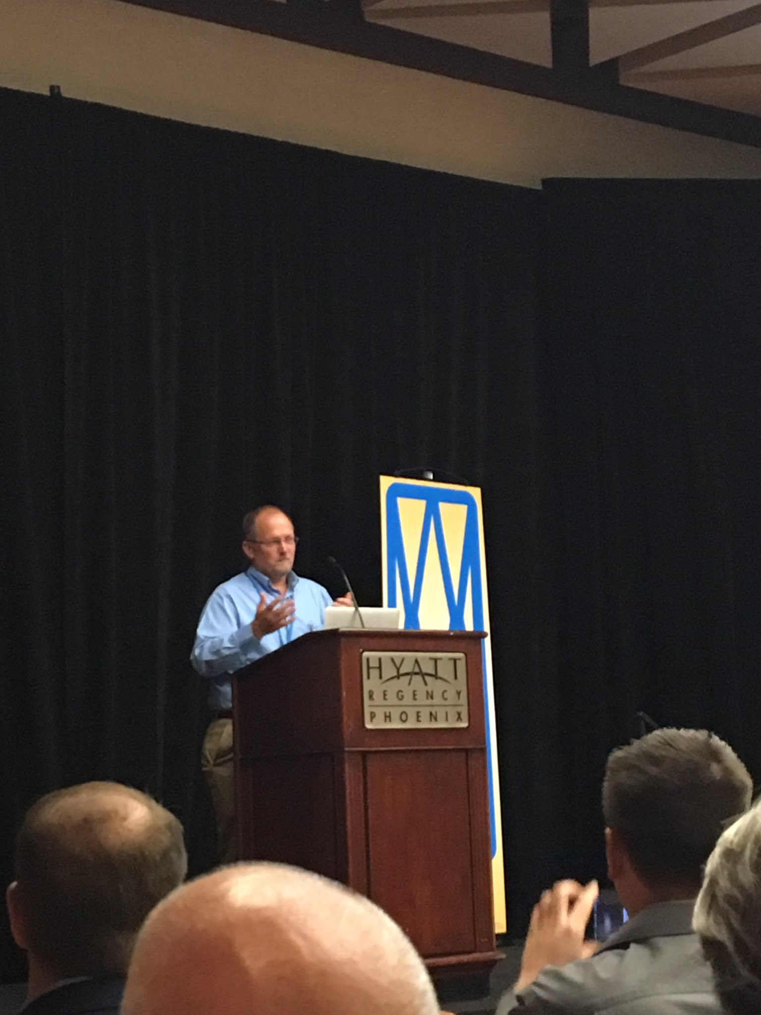 MAA President Bill Peterson welcomes attendees to the Opening Session of #wma2016 #azmuseums https://t.co/SgylICGnlV