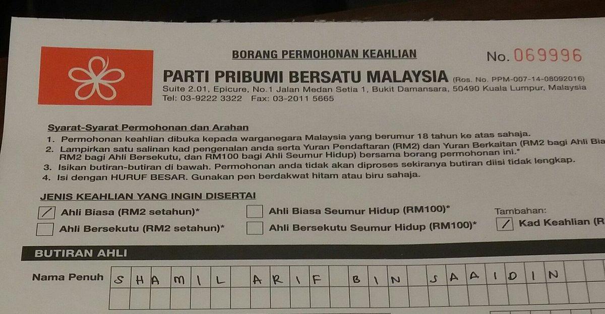 Sham Sur Twitter Dah Daftar Mengundi Dan Daftar Parti