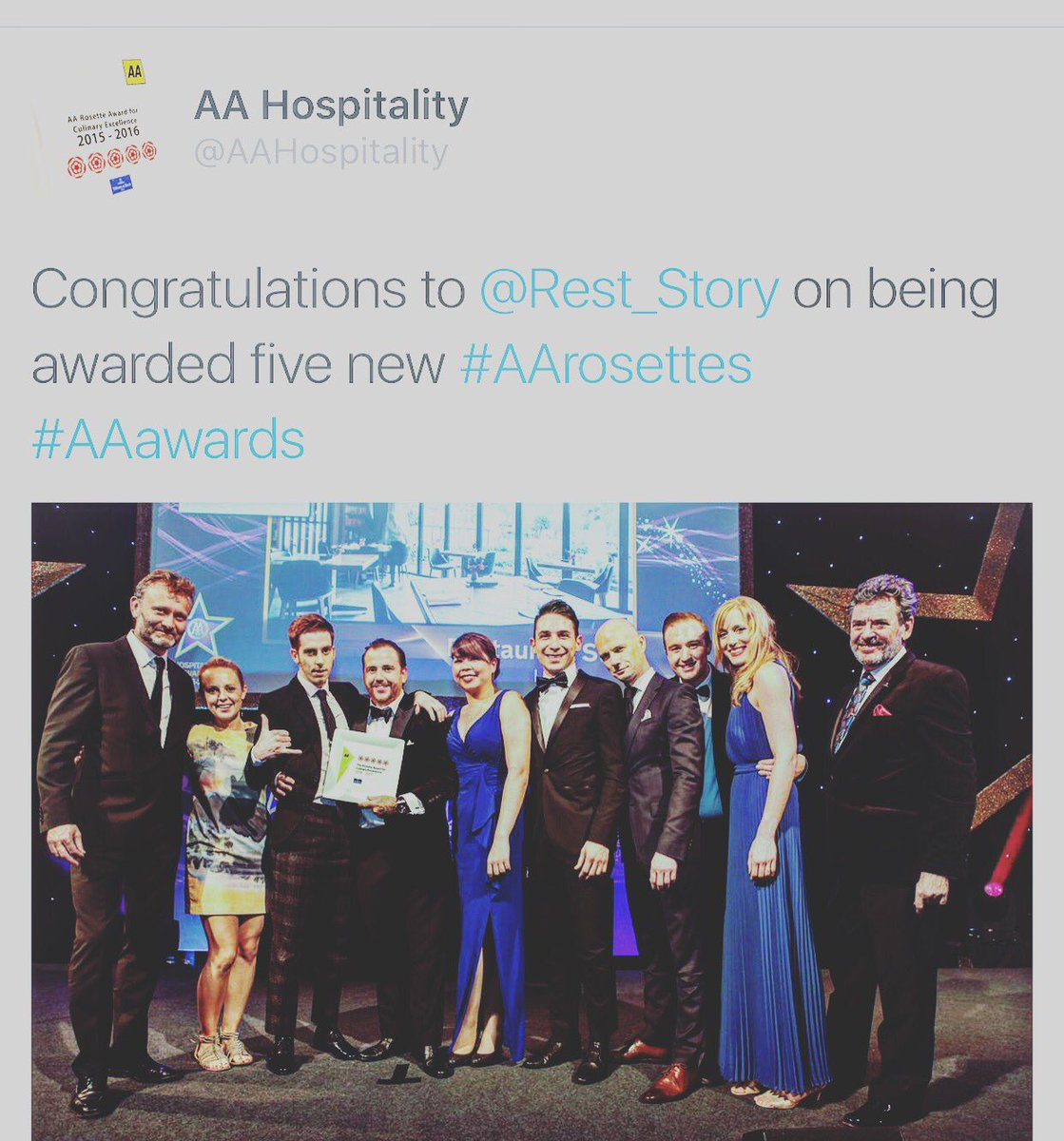 curtis stewart on tomsstory aahospitality when curtis stewart on tomsstory aahospitality when westwoodlee congrats you on winning 5 rosettes you know you ve madeit well done guys deserved
