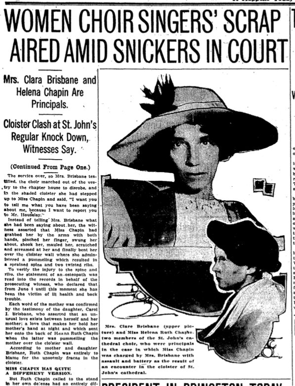 100 years ago today: Church choir brawls, murderous cattlemen and a tax on cakes by @brofax