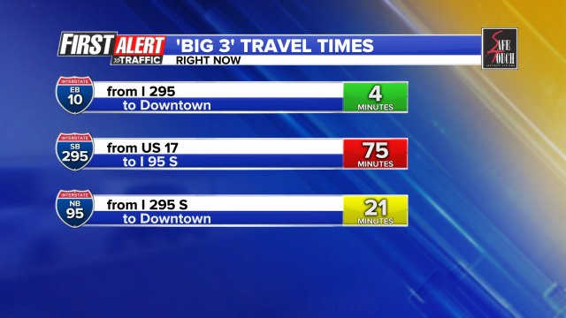 545PM - BIG delays continue SB over @BuckmanBridge ..crash at San Jose has right lane blocked & off ramp blocked