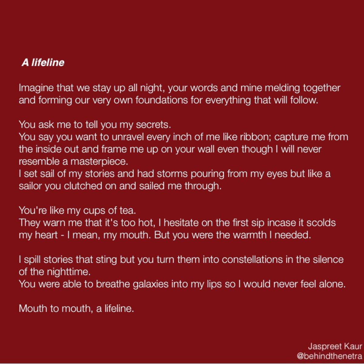 Jaspreet Kaur On Twitter A Lifeline Poetry Lovequotes Love