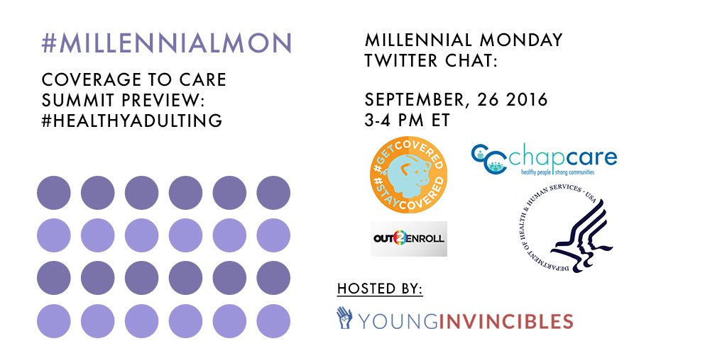 Welcome to #MillennialMon! Today's topic: #HealthyAdulting! https://t.co/4GFfufH29B