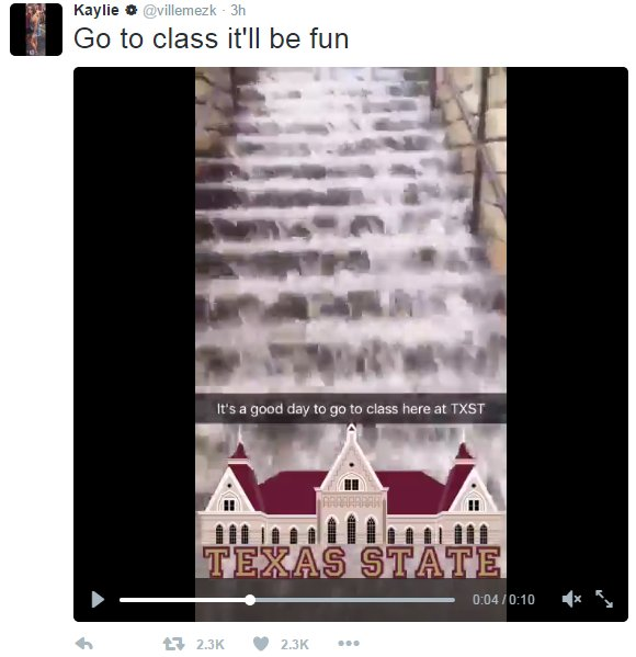 Texas State students take to Twitter as San Marcos floods txst