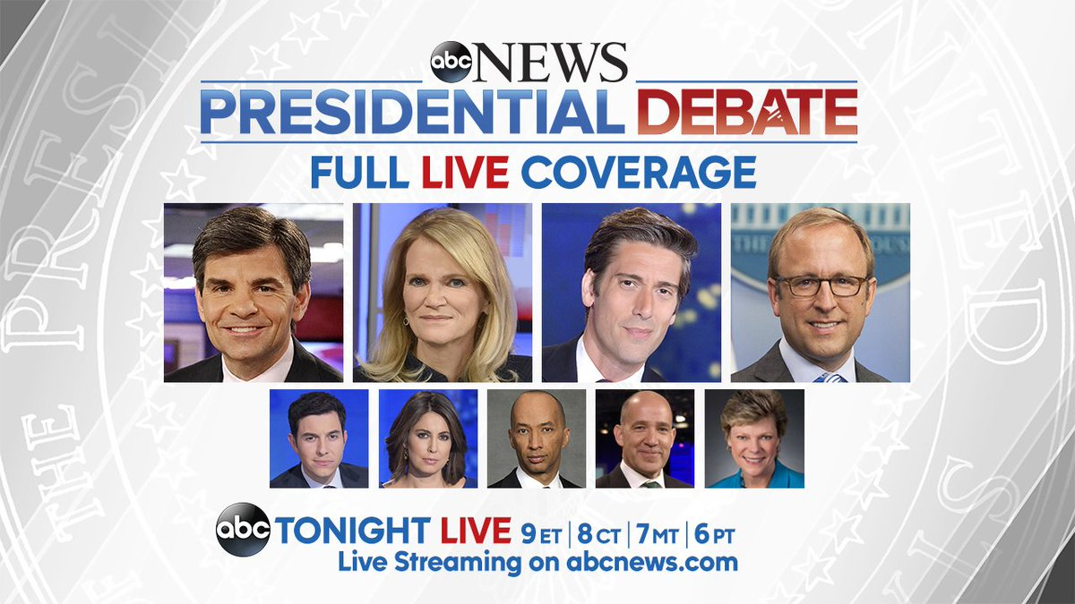 the highly anticipated presidential debate tonight at 6 p.m. on ABC7.