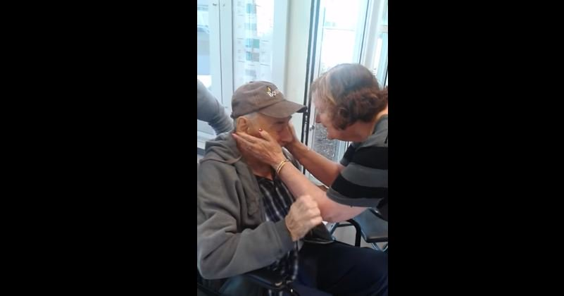 Elderly couple forced to live in different nursing homes are finally reunited.