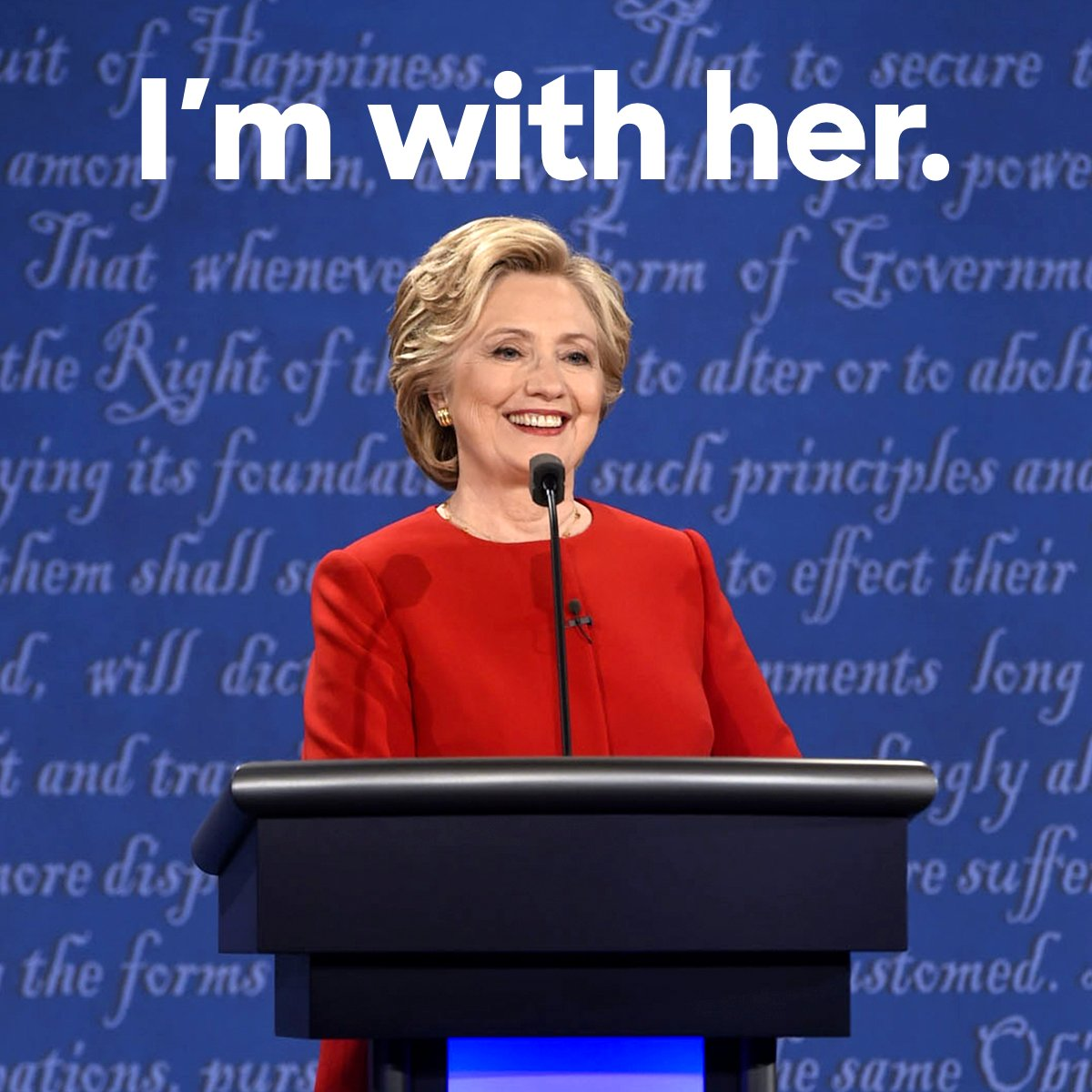 RT this if you're proud to be standing with Hillary tonight. #debatenight