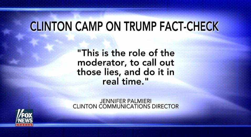 """FOX & friends on Twitter: """"Is it the debate moderator's ..."""