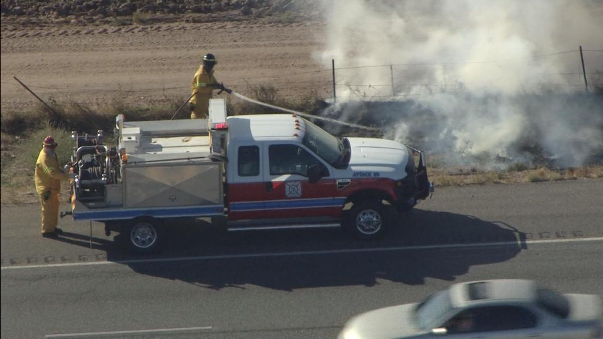 Firefighters Use Cemetery Sprinklers To Fight Grass Fires