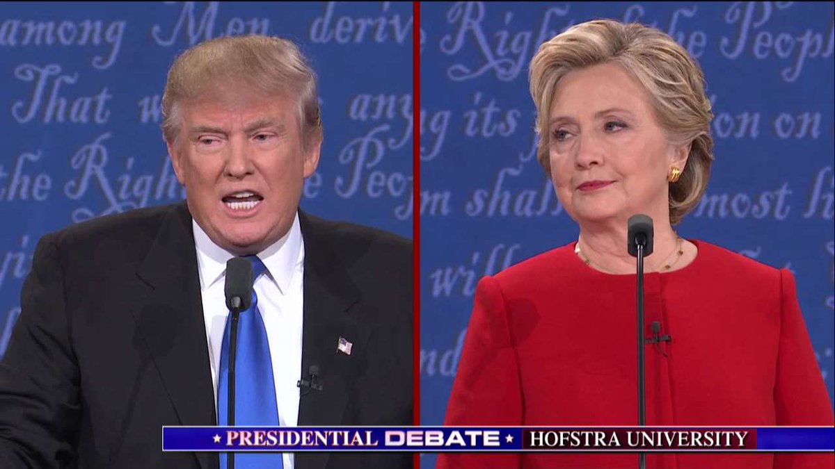an analysis of the debate between hillary clinton and donald trump in hofstra university