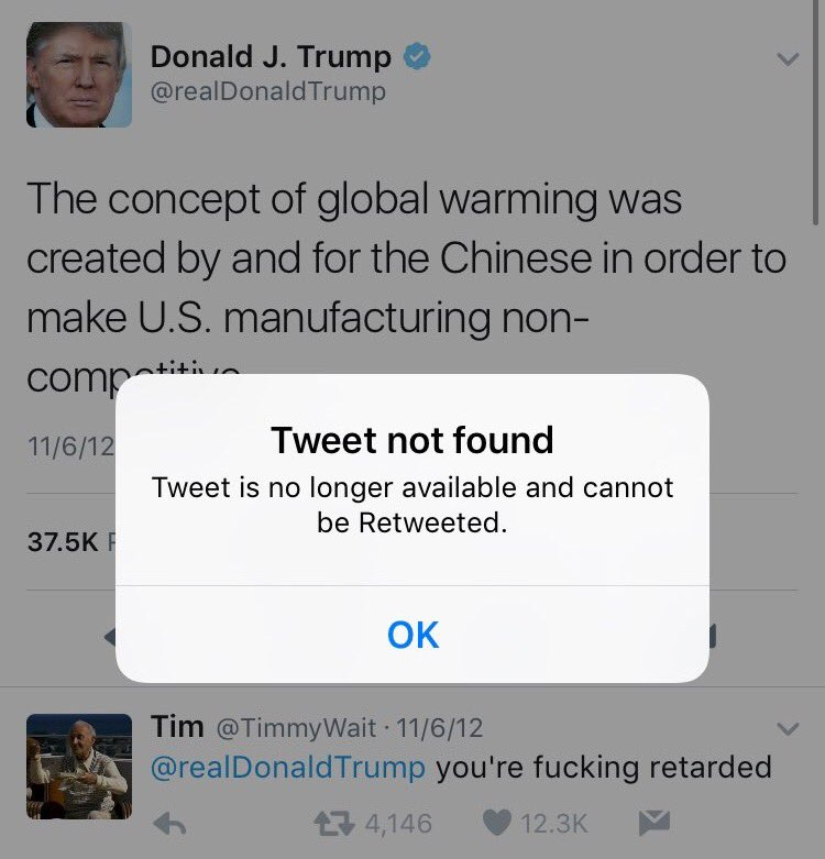 When will Trump release the deleted Tweets? https://t.co/fpZn9g9BPx
