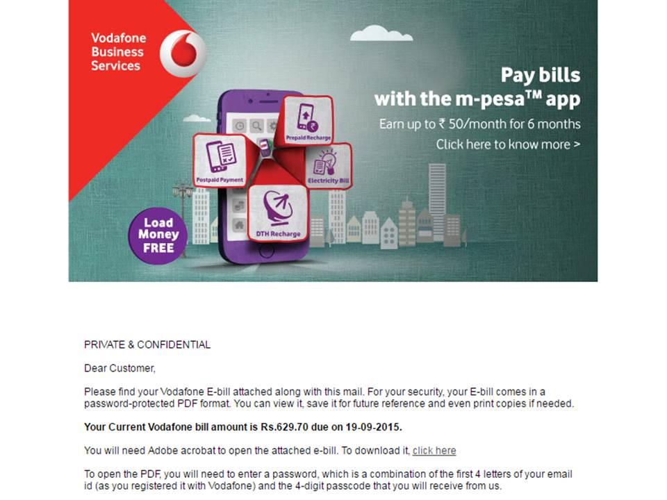 How To Vodafone Bill Pdf
