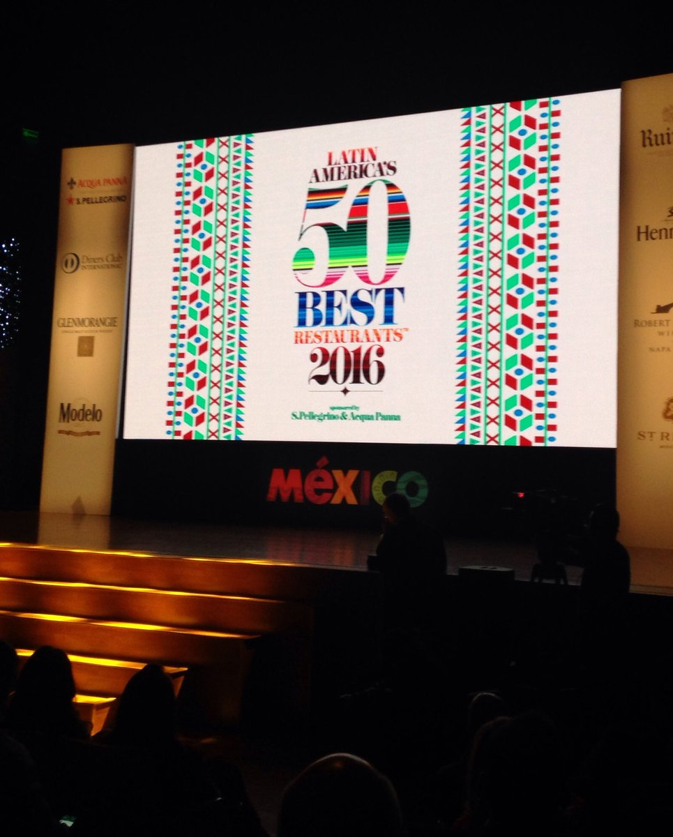 Felicidades México 10 @Bikomx 6 @Rest_Quintonil 5 @pujolrestaurant (The Art of Hospitality) #Latam50Best https://t.co/O6DzRuyyYk