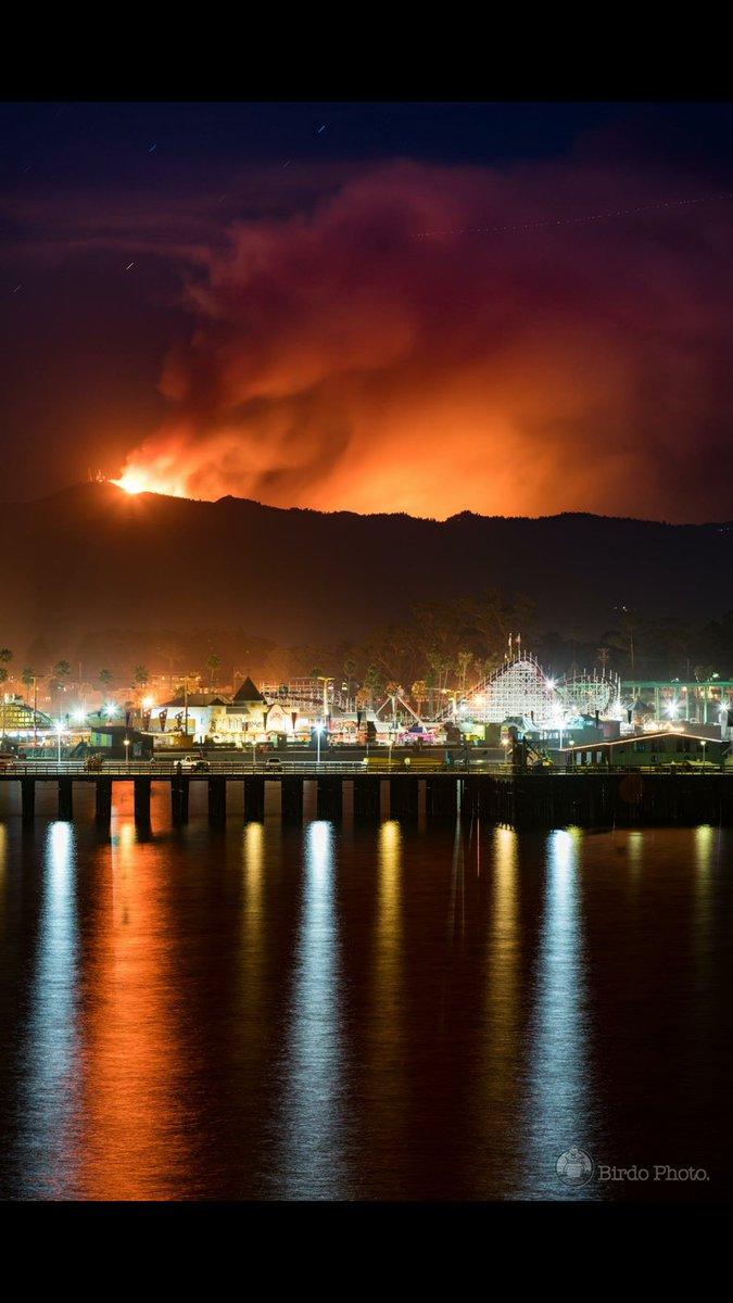 Loma Prieta fire form Santa Cruz