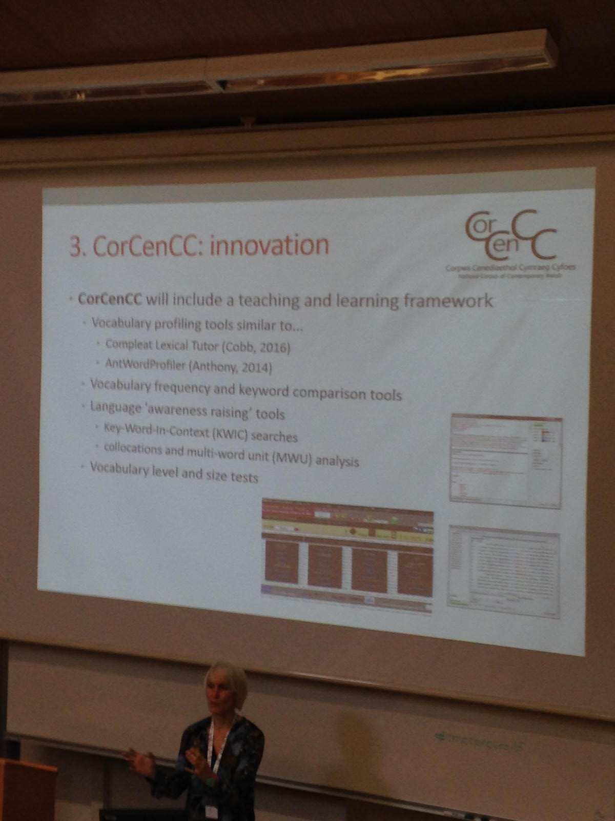 #cmccorpora16 a great project for contemporary Welsh : CorCenCC https://t.co/gLCDyeFHbQ