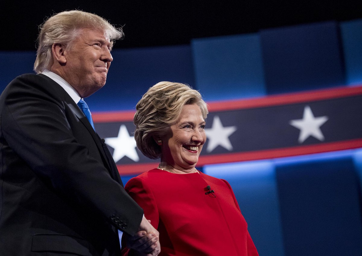 @RexHuppke's takeaway from debatenight is simple: Never bring a Cheeto to a knife fight