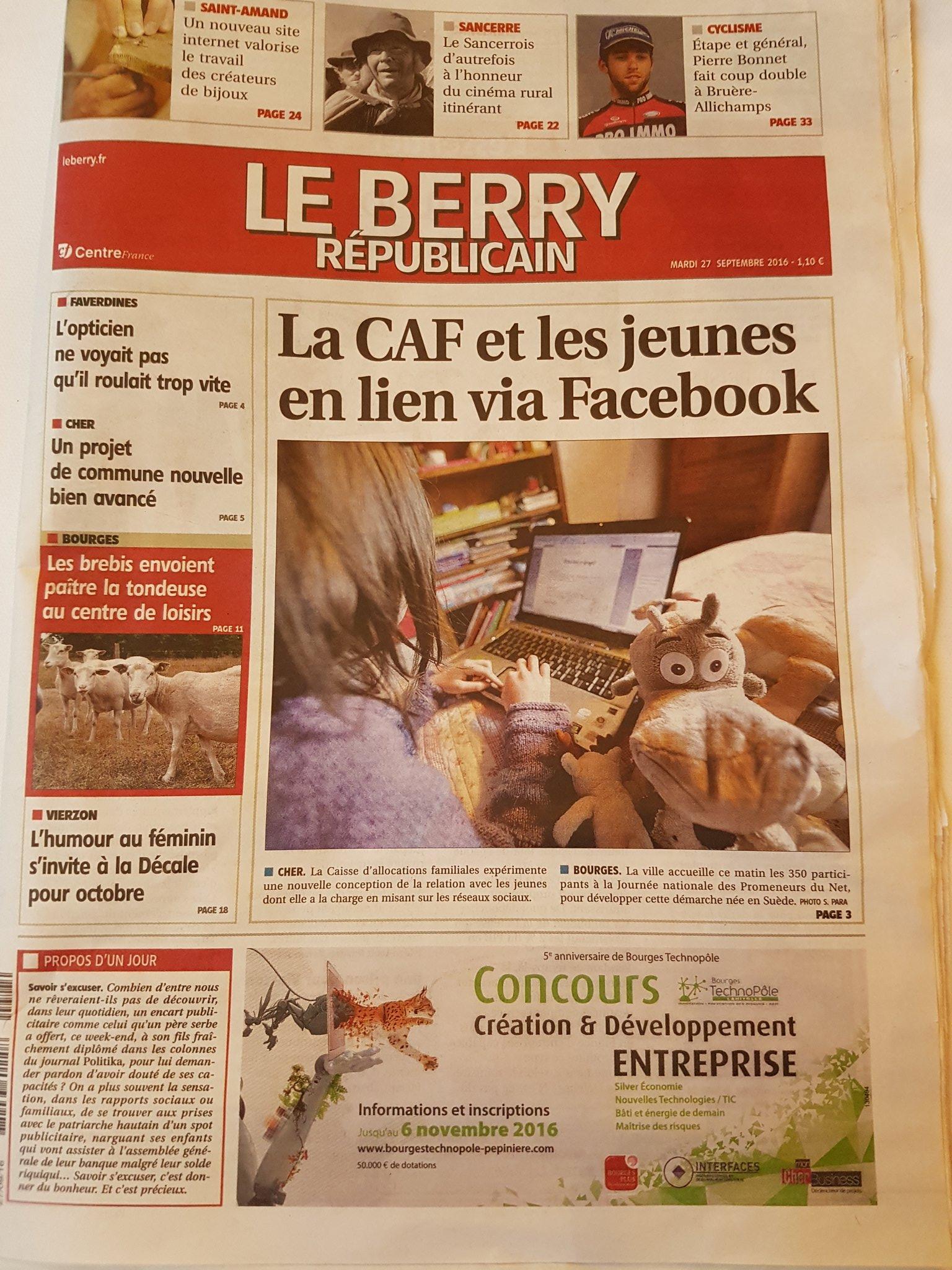 @mda_34 Bourges journées nationales de la CAF déploiement des #promeneursdunet Beau programme au menu du jour https://t.co/ly6fzmq11D