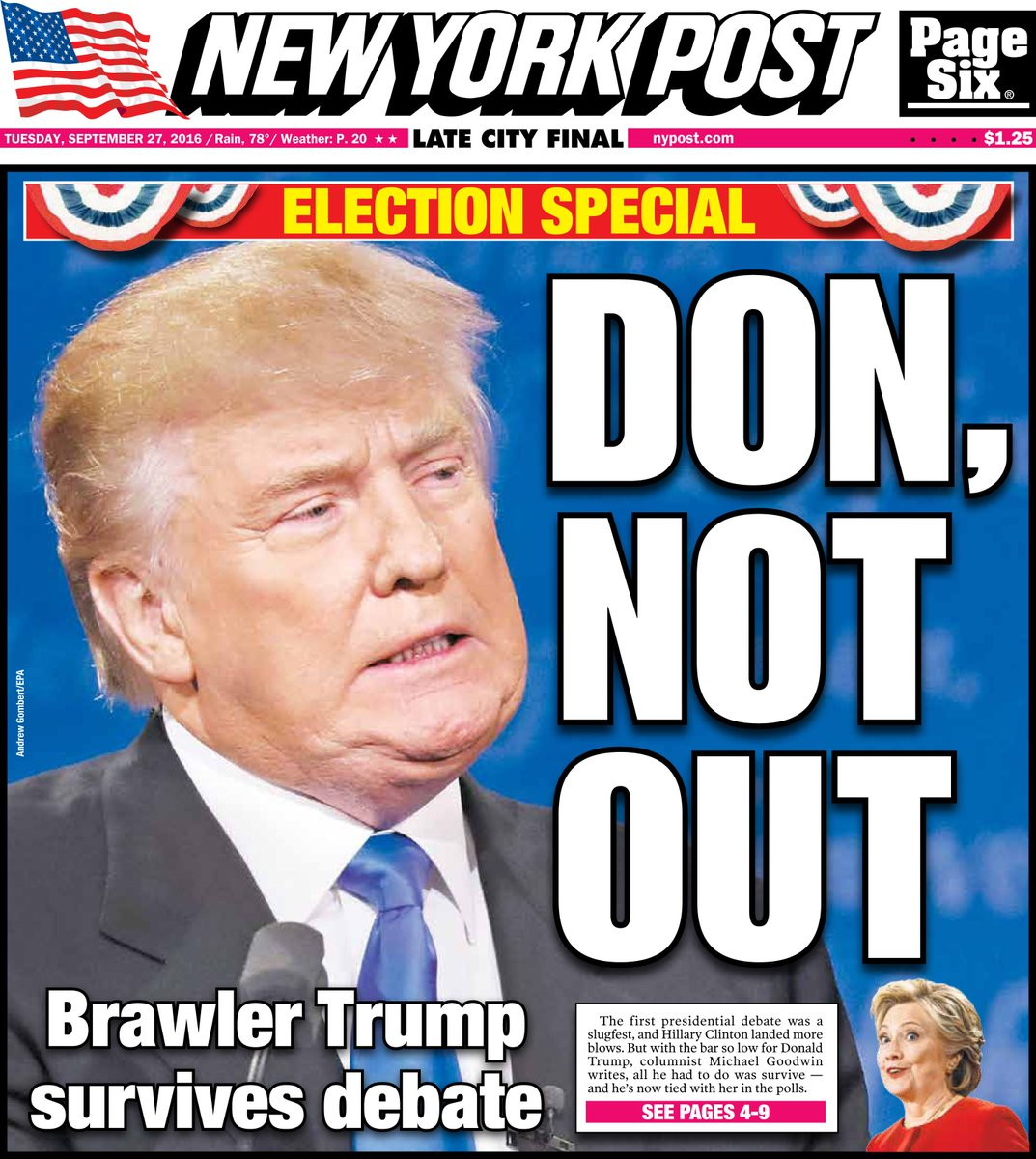 Today's cover: Trump survives round one -- and that's bad news for Clinton