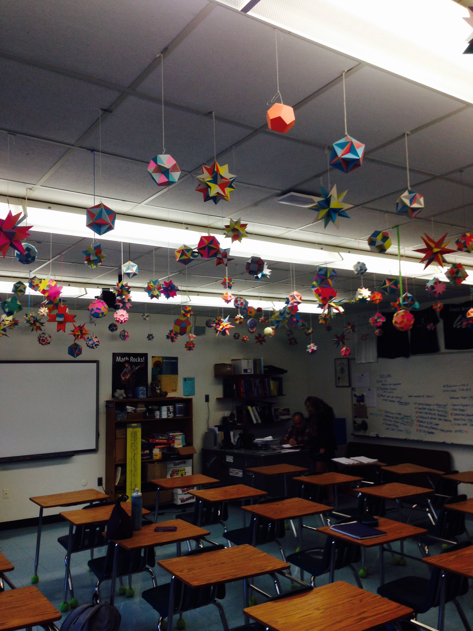 Mornin' #vted! Just hanging out in #therealwillwright's math classroom...can't help notice the decor https://t.co/jZWt3x4SC3