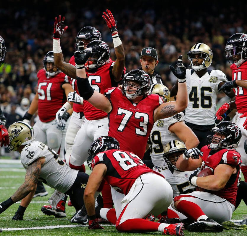 Falcons offense keeps building steam in 45-32 win vs. Saints