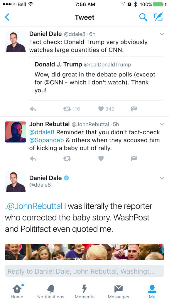 Someone trying to factcheck @ddale8 is kinda funny and not a good idea https://t.co/im2UERumOL