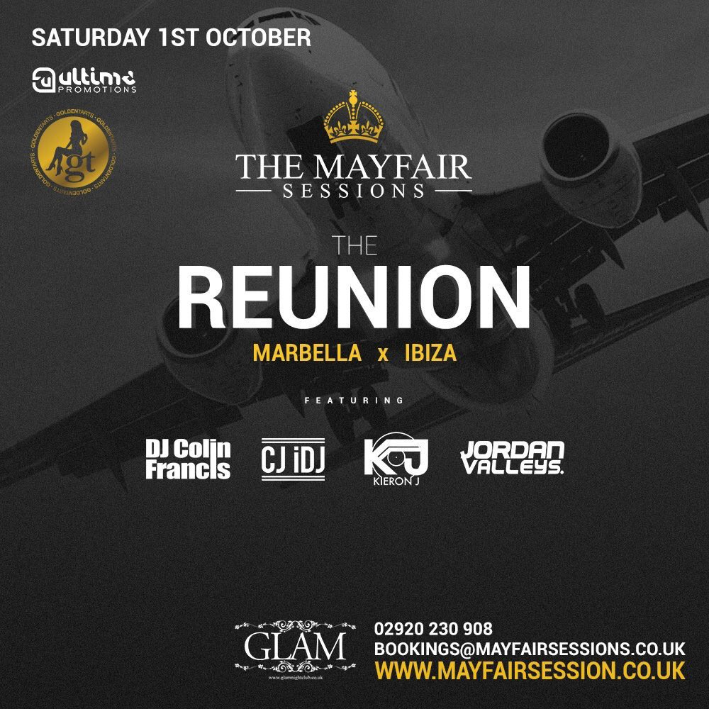 @MayfairSessions #MarbellaReunion this Saturday at @GlamNightclub #CARDIFF