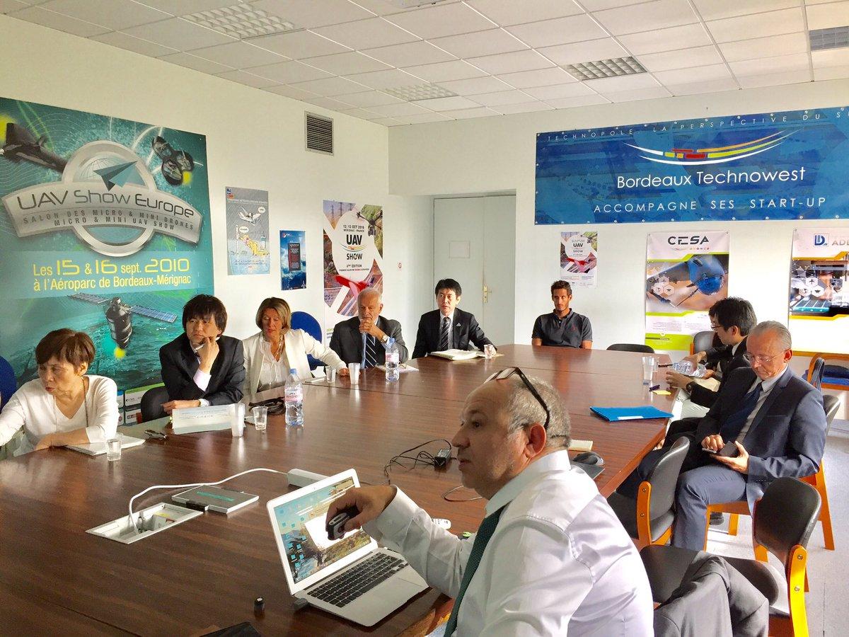 Visite et présentation de la technopole à la délégation japonaise de Fukuoka #startup #japan #incubator
