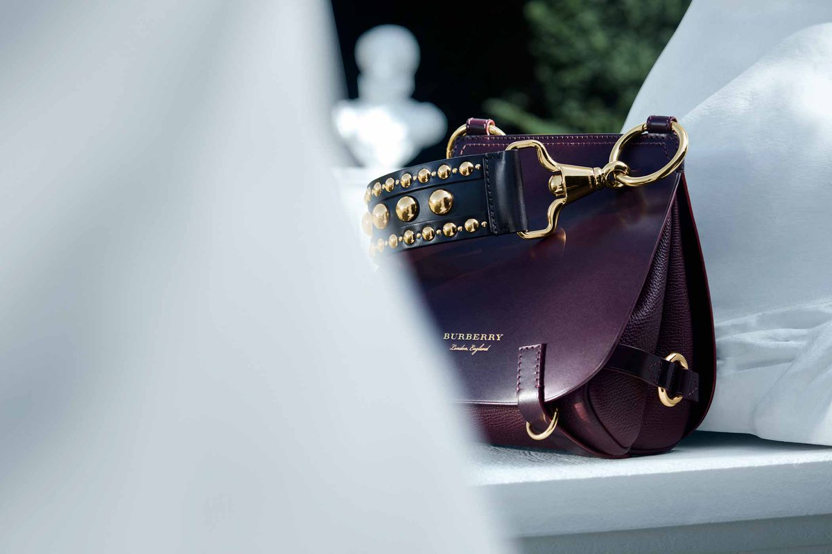 eeedf29ae48d the bridle bag from burberry finished with studs in an exclusive design for  dfs
