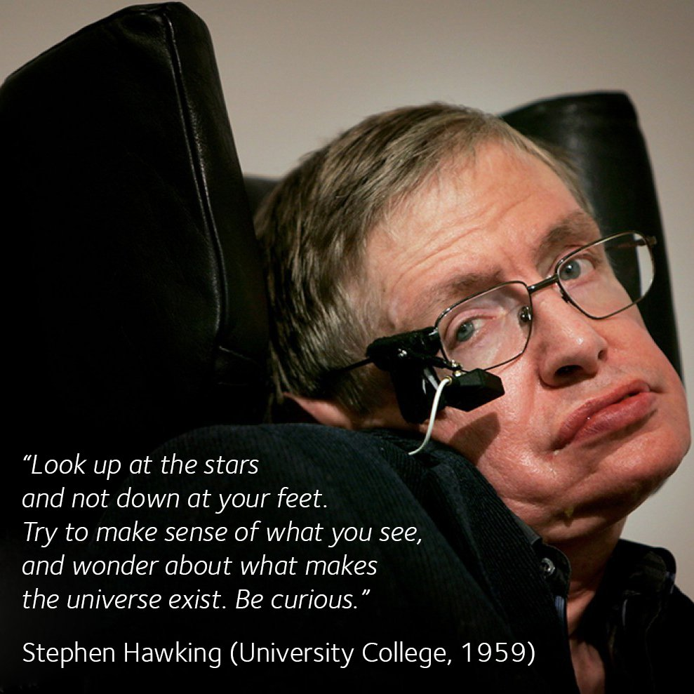 Oxford Alumni On Twitter Famous Alumni Quotes Stephen Hawking