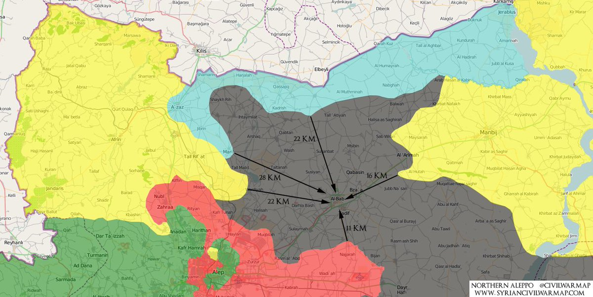 Syrian Civil War Map On Twitter Northern Aleppo Map - Syria interactive map